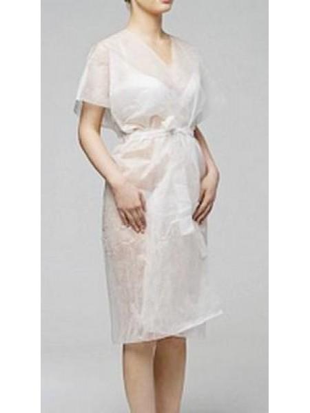 Халат-кимоно белый без рукавов