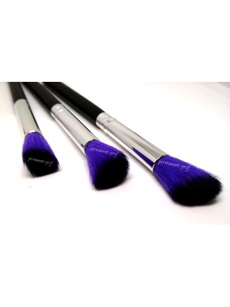 Кисточки для макияжа; двуцветные