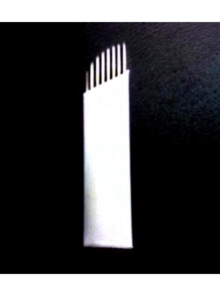 Двурядные иглы для растушевки; скошенные №16