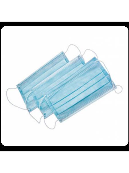 Маска 3-хслойная на резинке (50 шт)